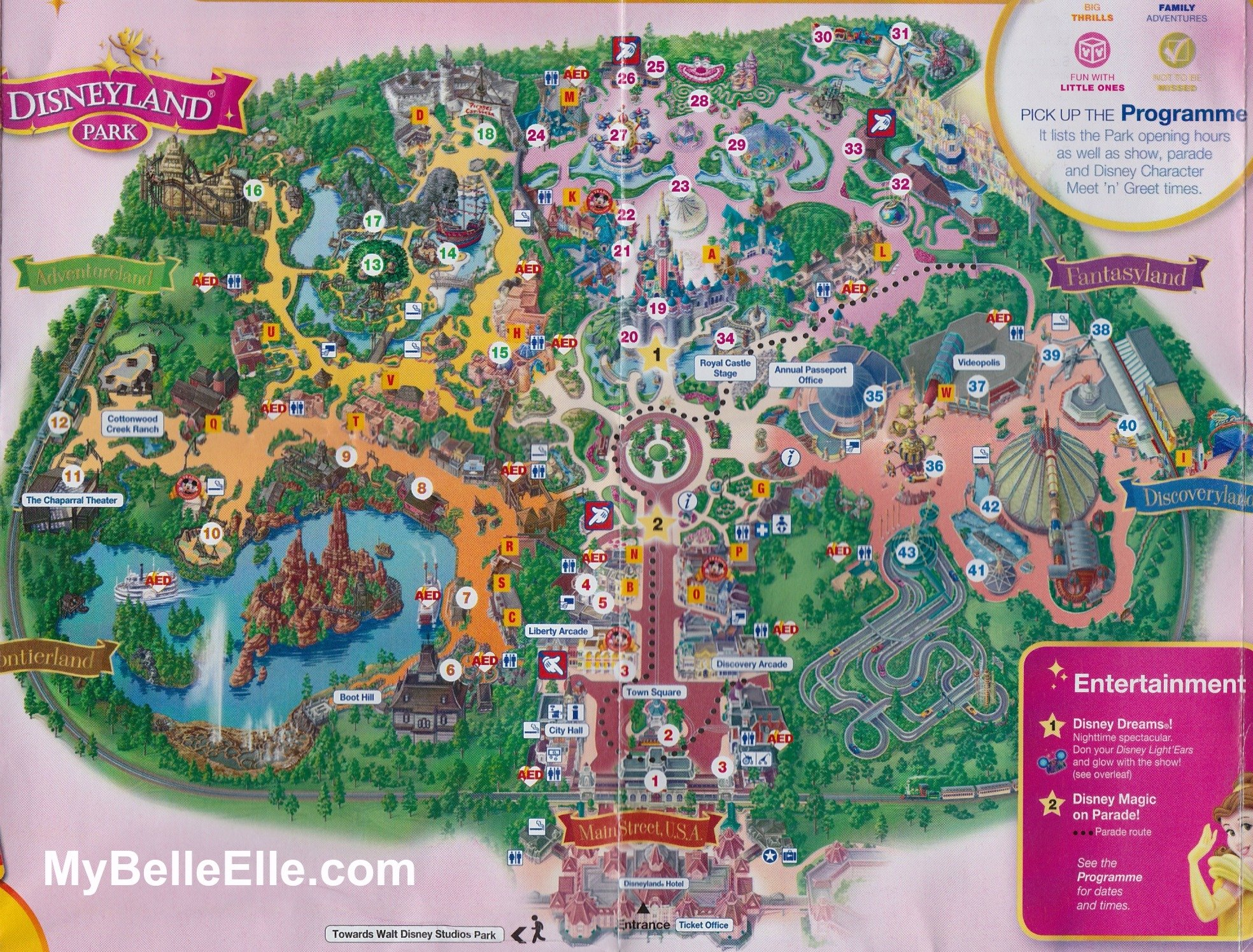 the map of disneyland park