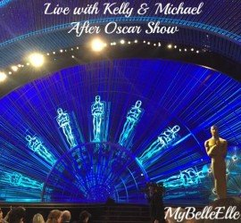 live with Kelly & Michael after oscar show