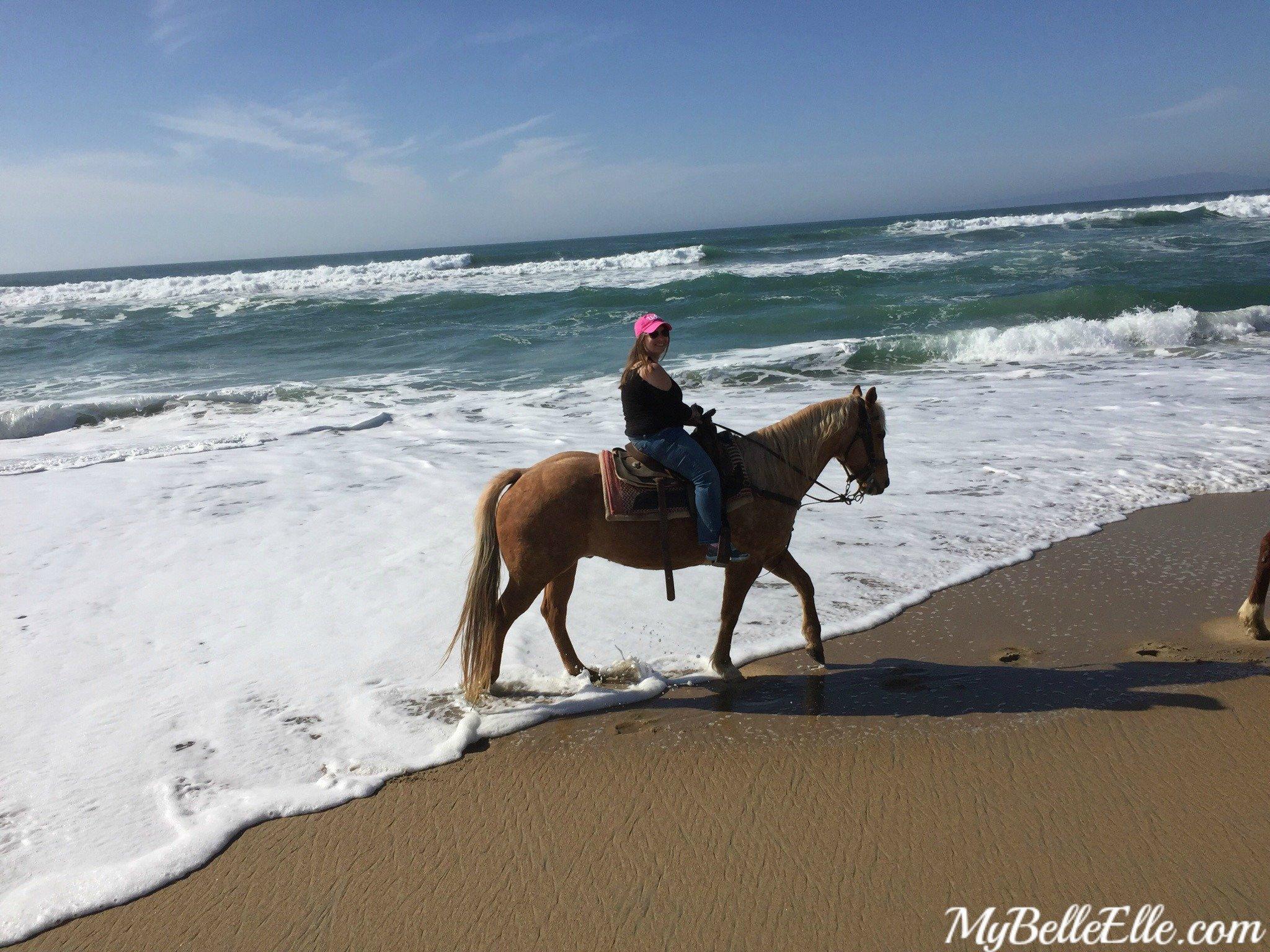 Horseback Riding On The Beach In California