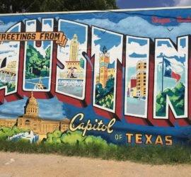 greetings fro austin mural