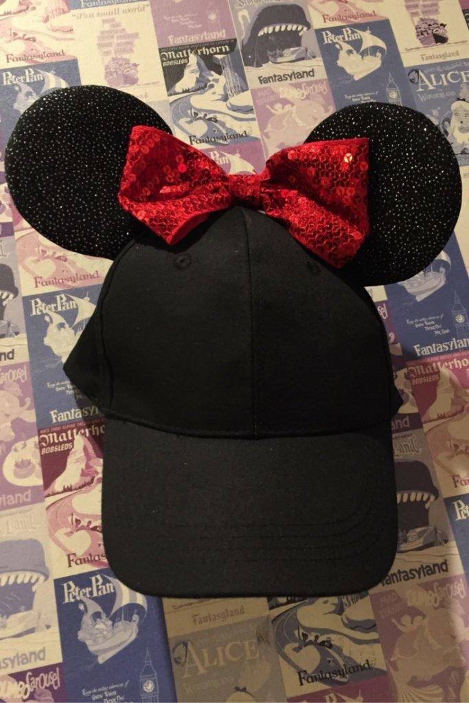 diy mickey ears baseball hat